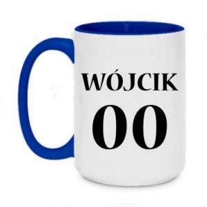Two-toned mug 450ml Surname and number