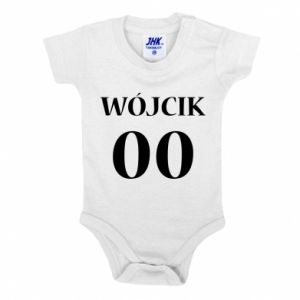 Baby bodysuit Surname and number