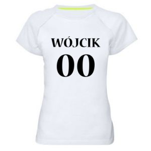 Women's sports t-shirt Surname and number