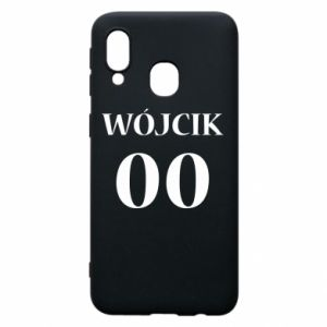 Phone case for Samsung A40 Surname and number