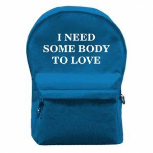 Plecak z przednią kieszenią Need some body to love