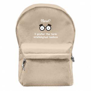 Plecak z przednią kieszenią Nerd? I prefer the term intellectual badass