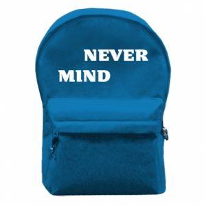 Backpack with front pocket Never mind