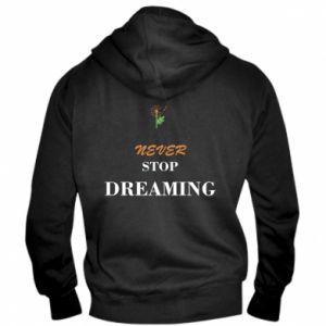 Męska bluza z kapturem na zamek Never stop dreaming