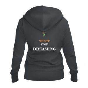 Damska bluza na zamek Never stop dreaming