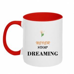 Kubek dwukolorowy Never stop dreaming