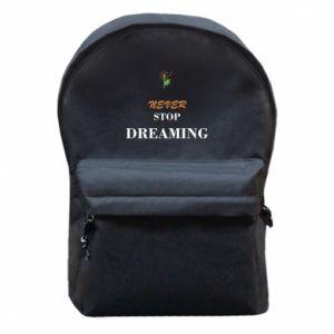 Plecak z przednią kieszenią Never stop dreaming