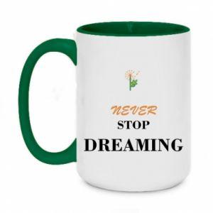 Kubek dwukolorowy 450ml Never stop dreaming