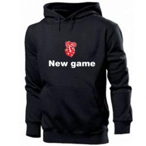 Męska bluza z kapturem New game
