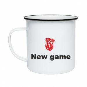 Kubek emaliowane New game