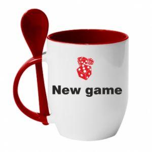 Kubek z ceramiczną łyżeczką New game