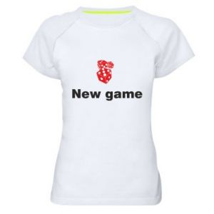 Women's sports t-shirt New game