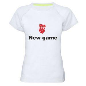 Damska koszulka sportowa New game