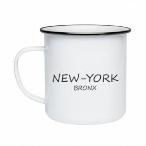 Kubek emaliowany New-York Bronx