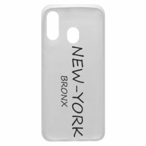 Phone case for Samsung A40 New-York Bronx