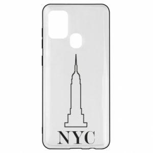 Etui na Samsung A21s New york tower