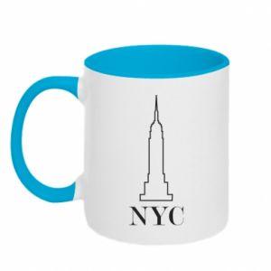 Kubek dwukolorowy New york tower