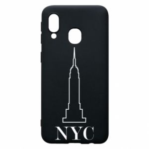 Phone case for Samsung A40 New york tower