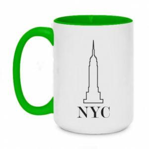 Kubek dwukolorowy 450ml New york tower