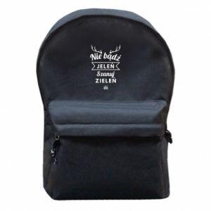 Plecak z przednią kieszenią Nie bądż jeleń