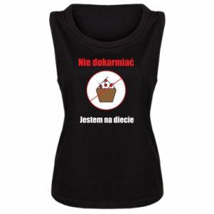 Women's t-shirt Do not feed. I'm on a diet