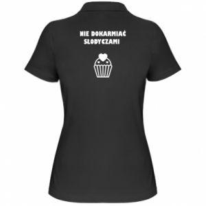 Koszulka polo damska Nie dokarmiać...