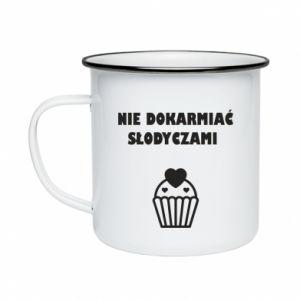 Enameled mug Do not feed... - PrintSalon
