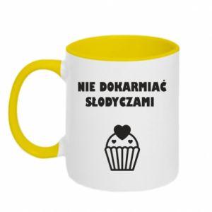 Two-toned mug Do not feed... - PrintSalon