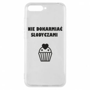 Phone case for Huawei Y6 2018 Do not feed... - PrintSalon