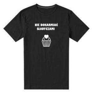 Men's premium t-shirt Do not feed... - PrintSalon