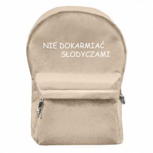 Plecak z przednią kieszenią Nie dokarmiać