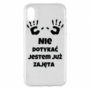 Phone case for iPhone X/Xs Do not touch... - PrintSalon