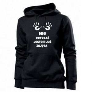 Women's hoodies Do not touch... - PrintSalon