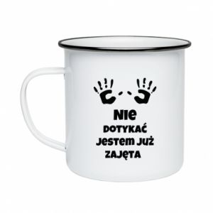 Enameled mug Do not touch... - PrintSalon