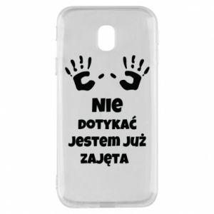 Phone case for Samsung J3 2017 Do not touch... - PrintSalon