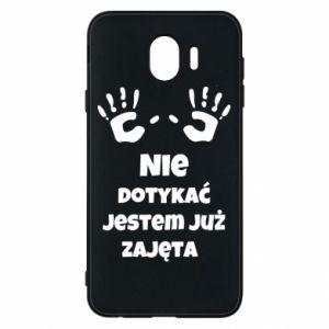 Phone case for Samsung J4 Do not touch... - PrintSalon