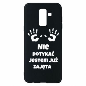 Phone case for Samsung A6+ 2018 Do not touch... - PrintSalon