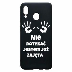 Phone case for Samsung A30 Do not touch... - PrintSalon