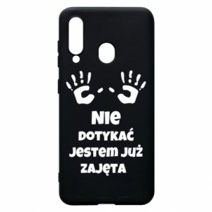 Phone case for Samsung A60 Do not touch... - PrintSalon