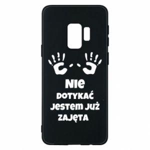Phone case for Samsung S9 Do not touch... - PrintSalon