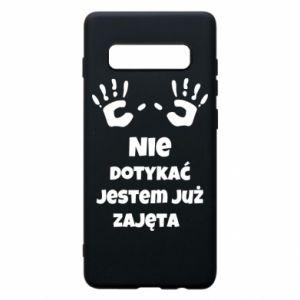 Phone case for Samsung S10+ Do not touch... - PrintSalon