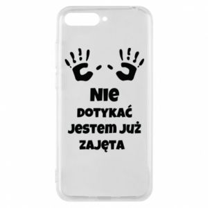 Phone case for Huawei Y6 2018 Do not touch... - PrintSalon