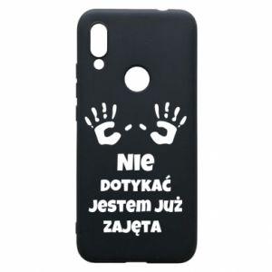 Phone case for Xiaomi Redmi 7 Do not touch... - PrintSalon
