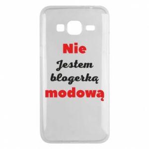 Etui na Samsung J3 2016 Nie jestem blogerką modową