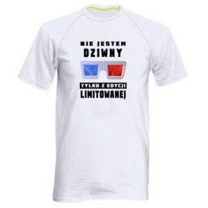 Męska koszulka sportowa Nie jestem dziwny