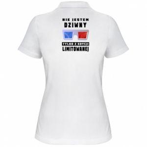 Damska koszulka polo Nie jestem dziwny