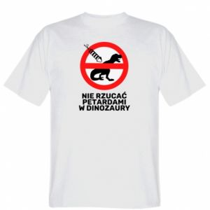 Koszulka męska Nie rzucać petardami w dinozaury