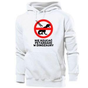 Bluza z kapturem męska Nie rzucać petardami w dinozaury