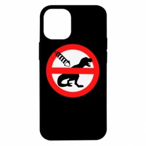 Etui na iPhone 12 Mini Nie rzucać petardami w dinozaury