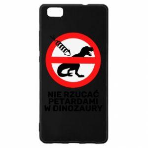 Etui na Huawei P 8 Lite Nie rzucać petardami w dinozaury